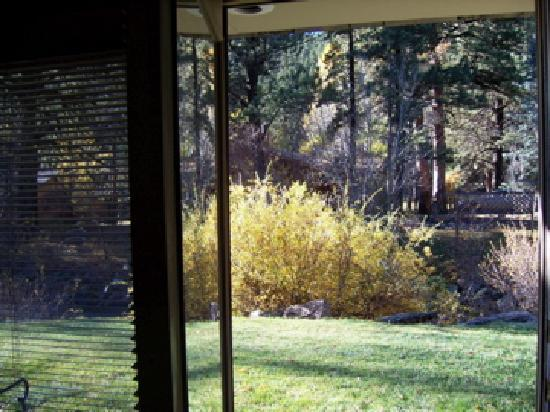 Deer Crest Resort: View from the glass entry doors of RM#312 (the Fall River Suite)