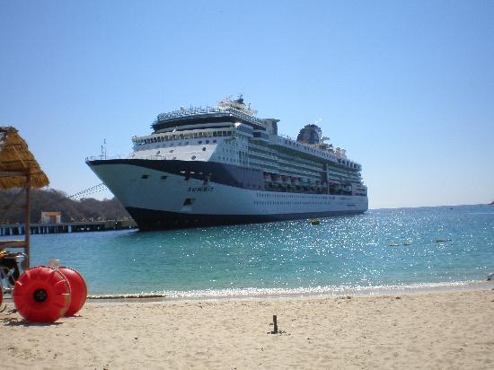 Cruise Ship At Port Picture Of Huatulco Oaxaca Tripadvisor