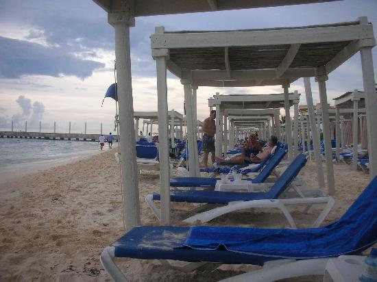 Beach Beds - Picture of Hilton Playa del Carmen, an All