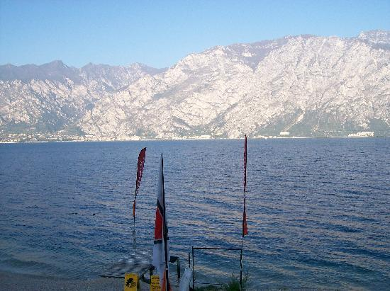 Hotel Sole Malcesine: View from the Hotel Sole of Lake Garda