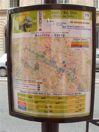 L'Open Bus Tour : The sign posts to look for