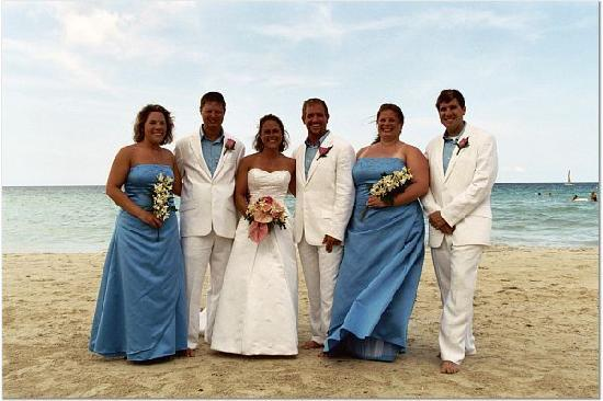 S Swept Away Wedding Party On The Beach