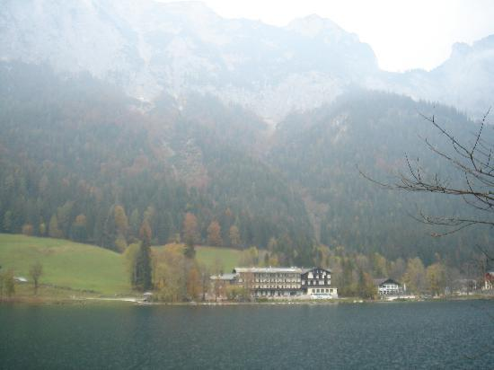 Pension Seeklause: The hotel from the other side of the lake (the small one on the right)