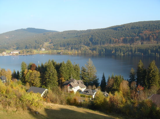 Titisee-Neustadt, Tyskland: The view from the balcony