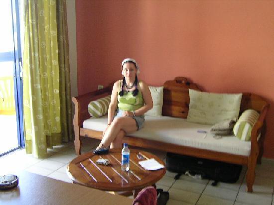 Jason Apartments Hotel: Living/dining area