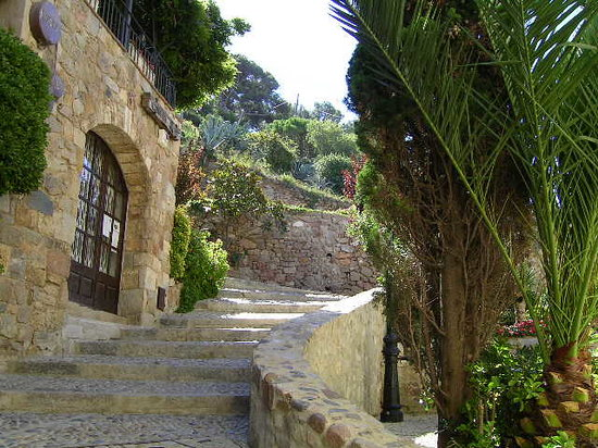 Tossa de Mar, Spanien: Inside the walls