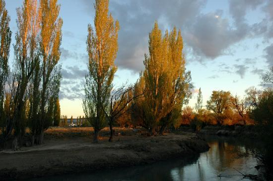 Gaiman, Argentina: The river behind the property.