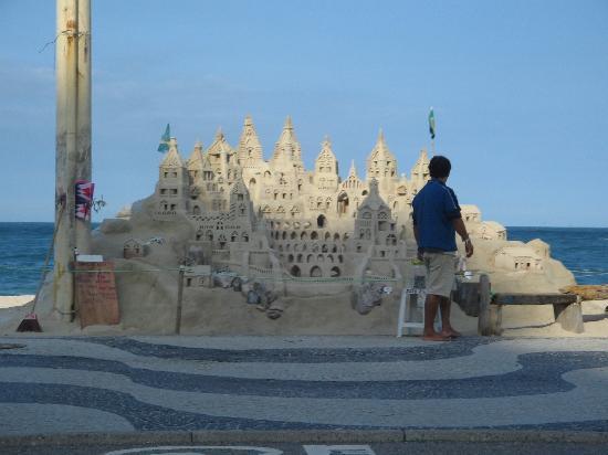 Rio de Janeiro, RJ: sand castle
