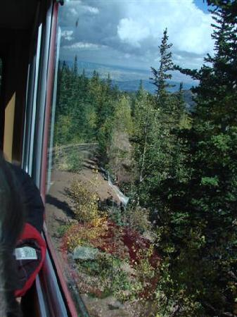 Pikes Peak: yes, from the inside of the cog train....