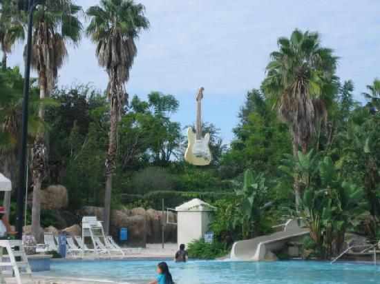 Hard Rock Hotel at Universal Orlando: view to pool slide