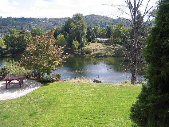 Holiday Inn Express Roseburg: River view from the room deck