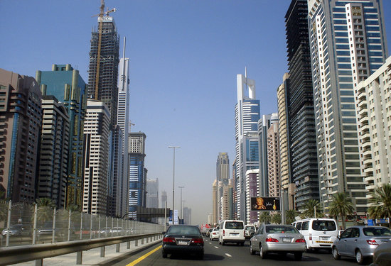 Dubái, Emiratos Árabes Unidos: shekh zayed road dubai