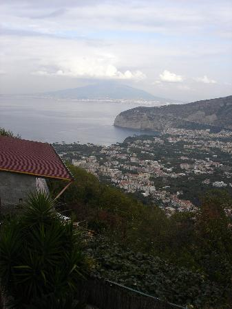 Villa Monica B&B: the view from our balconey