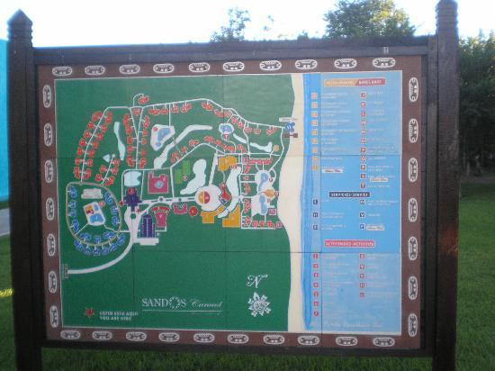 Sandos Caracol Eco Resort Map