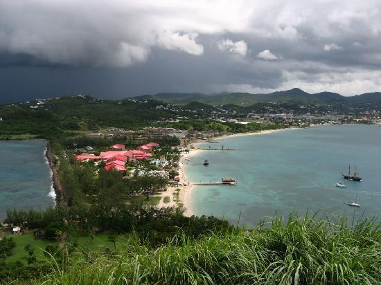 Sandals Grande St. Lucian Spa & Beach Resort: From the top of Pigeon