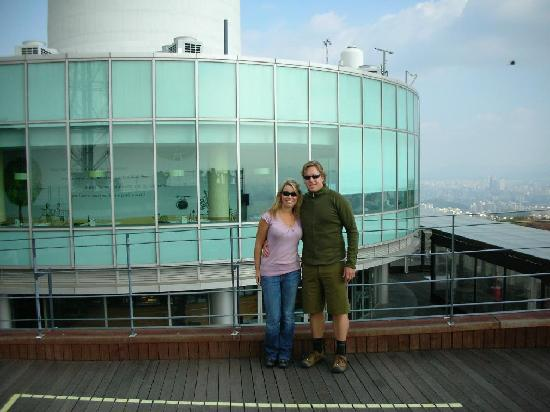 Vista Walkerhill Seoul: My boyfriend and I at the Seoul Tower