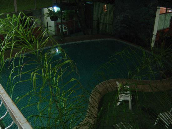 The Bellview: The pool - at night