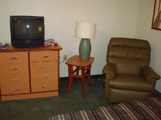 Extended Stay America - Chicago - Lombard - Yorktown Center: TV and lamp
