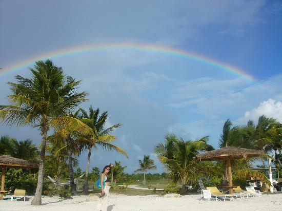 Jumby Bay, A Rosewood Resort: rainbow