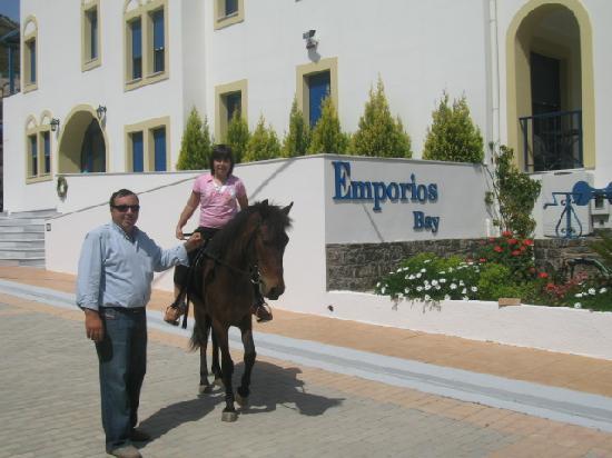 Emporios Bay Hotel : emporiosbay-horse