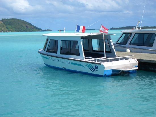 Bora Bora Pearl Beach Resort & Spa: Pearl Transfer Boat