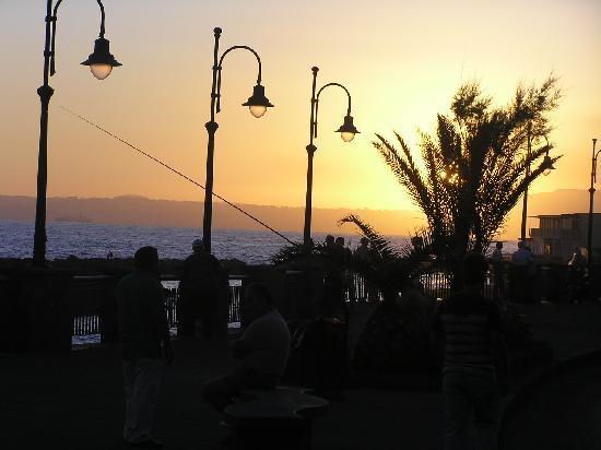 Hotel Holidays: beachfront bar at sundown