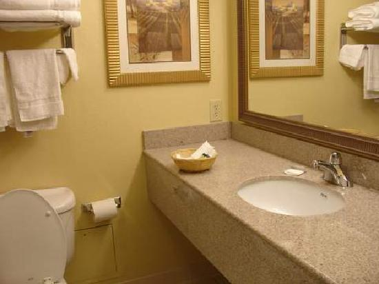Country Inn & Suites by Radisson, Washington, D.C. East - Capitol Heights, MD : bathroom with marble