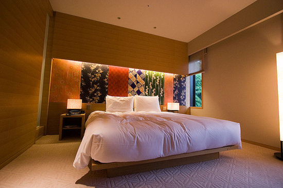 Hyatt Regency Kyoto: An example of one of the rooms, king bed