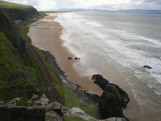 Mussenden Temple: View from the window at Mussenden