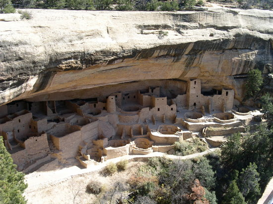 Mesa Verde National Park, CO: Cliff Palace from the Overlook