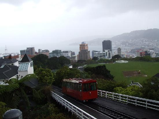 Wellington Cable Car: A rainy view over Wellington