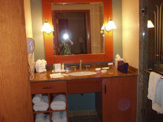 Seneca Allegany Resort & Casino : bathroom of standard room