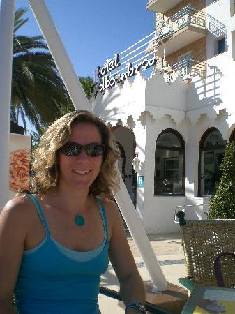 Hotel Alhambra: Faye outside the hotel