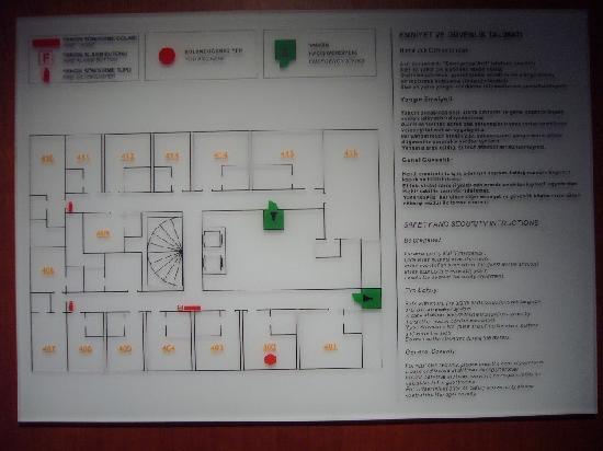 Lady Diana Hotel: plano 4a planta Lady Diana