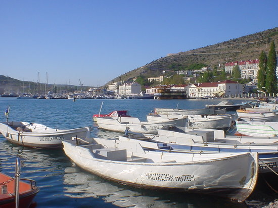 Balaklava harbour and embankment ( Sevastopol )