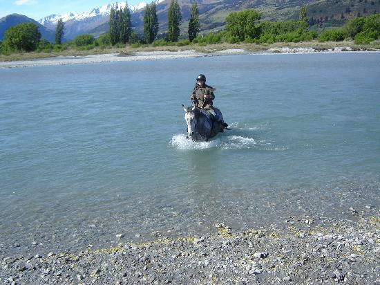 The Dairy Private Hotel: River Crossing on Horse - Dart River