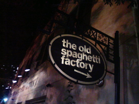 The Old Spaghetti Factory family restaurants offer a unique family friendly dining experience and delicious Italian food. We serve you a complete meal, which includes bread, soup or salad, and dessert.