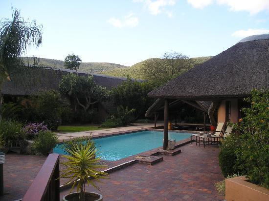 Shamwari Game Reserve Lodges: View of the pool area at Lobengula Lodge