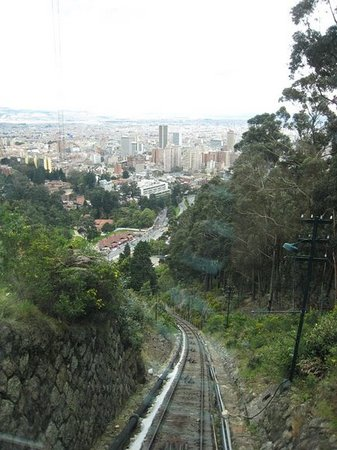 Bogotà, Colombia: View from the funicular on our way up to the top