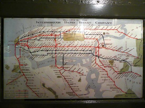 New York Transit Museum : Old subway map