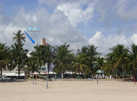 Starlite Hotel: Starlite from the beach