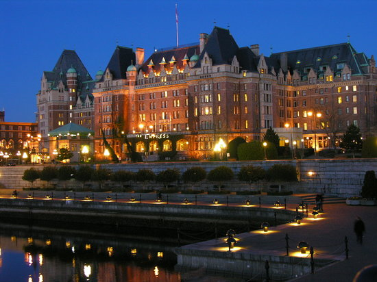 Victoria, Canada: The Empress at Night