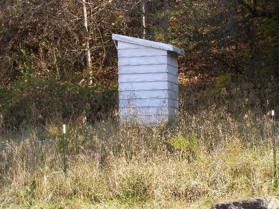 New River Trail State Park: Abandoned outhouse