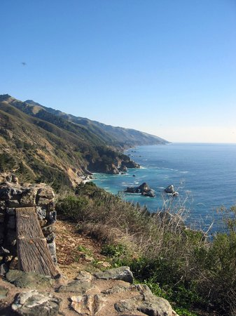 Plaża Big Sur, Kalifornia: Big Sur Roadside View