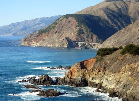 Plaża Big Sur, Kalifornia: Pacific Coast High Bridge