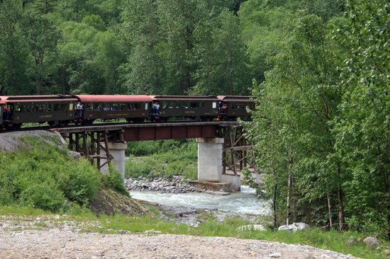 Skagway, AK: another bridge crossing a mountain stream