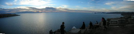 Sunset at Lake Titicaca from Copacabana