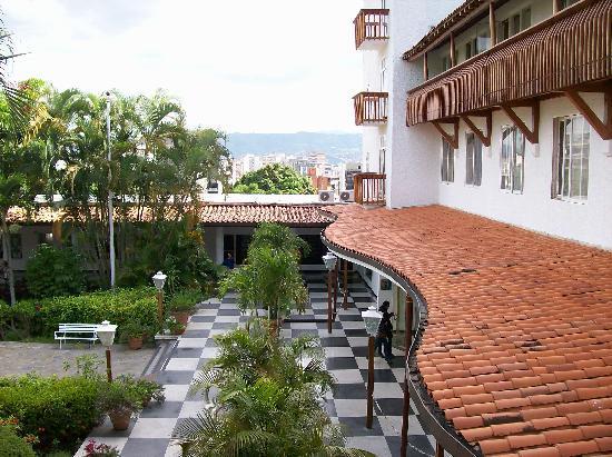Hotel Avila: hotel entrance (and Caracas) from third floor