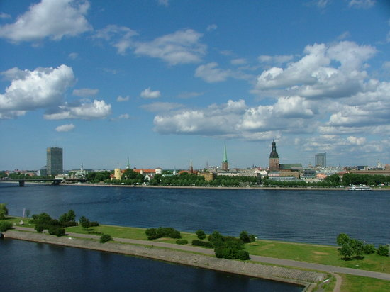 Ryga, Łotwa: panorama of Riga