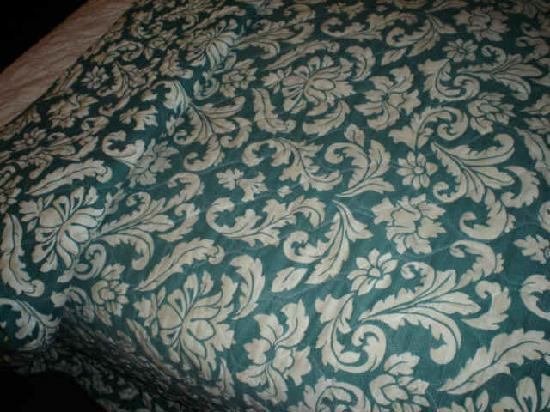 The  Northern Door Inn : stained bedspreads (doesn't show well in photo)